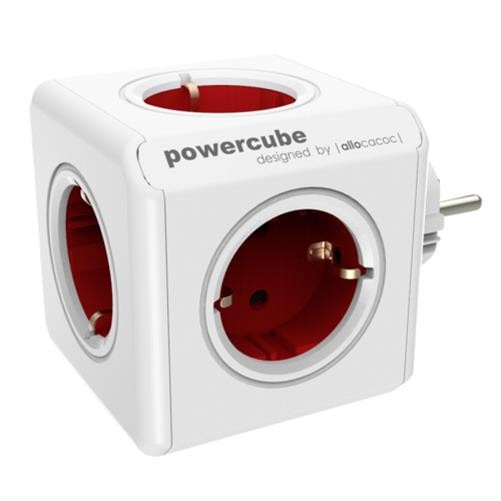 allocacoc PowerCube Original rot Type F für Extended Cubes