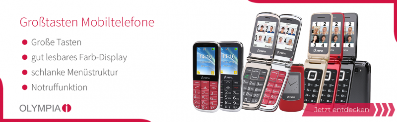 OLYMPIA Großtasten-Mobiltelefone